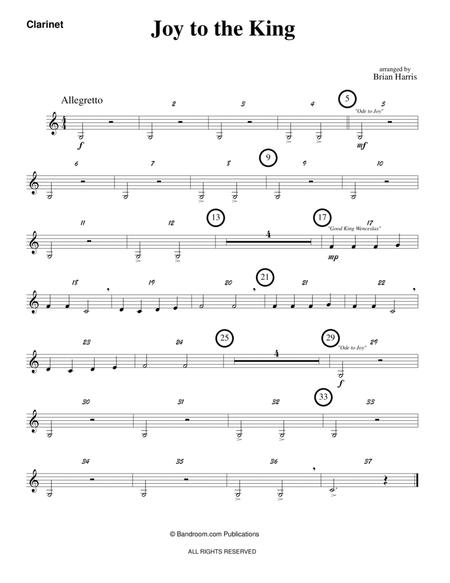 JOY TO THE KING (beginner band - super easy - score, parts & license to copy - winter concert)