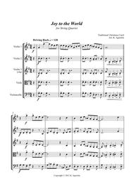 Joy to the World - Rock Carol for String Quartet