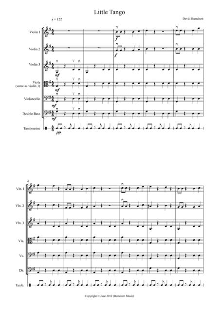 Little Tango for Beginning String Orchestra