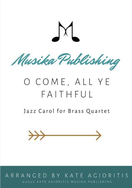 O Come All Ye Faithful - Jazz Arrangement in 5/4 for Brass Quartet