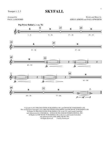 Skyfall - Bb Trumpets 1,2,3