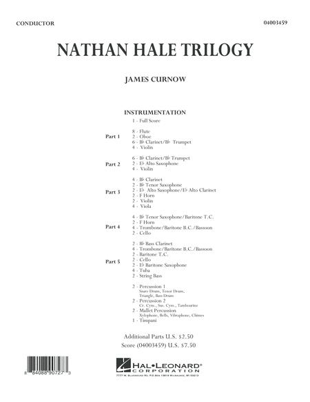 Nathan Hale Trilogy - Conductor Score (Full Score)