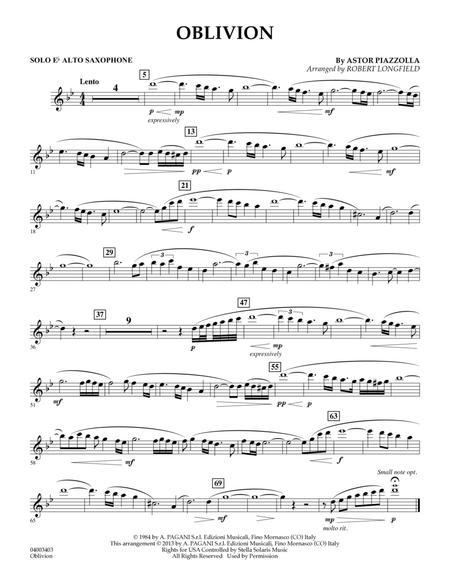 Oblivion - Eb Alto Saxophone Solo