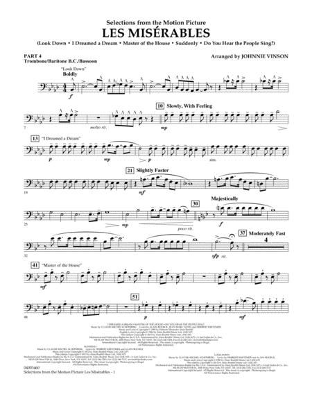 Les Miserables (Selections from the Motion Picture) - Pt.4 - Trombone/Bar. B.C./Bsn.