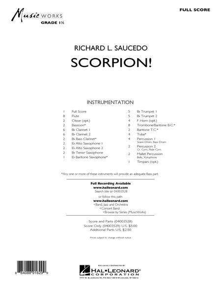 Scorpion! - Conductor Score (Full Score)