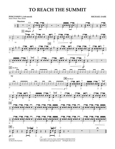 To Reach the Summit - Percussion 1 (Advanced)