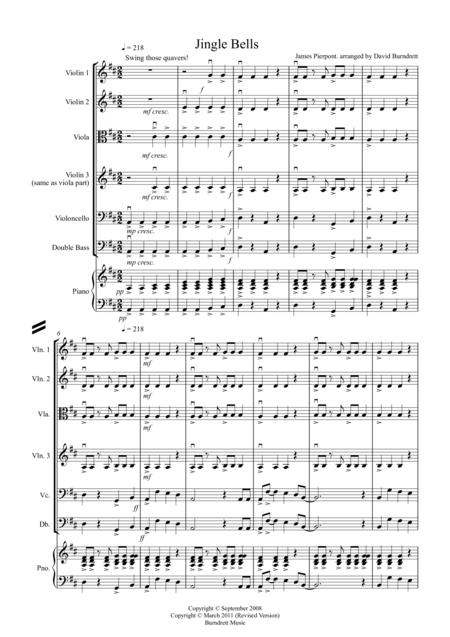 Jingle Bells (jazzy style!) for String Orchestra