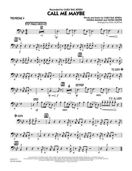Call Me Maybe - Trombone 4