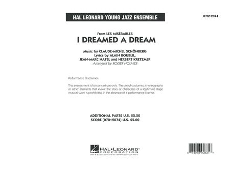 I Dreamed a Dream (from Les Miserables) - Conductor Score (Full Score)