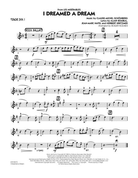 I Dreamed A Dream From Les Miserables Tenor Sax