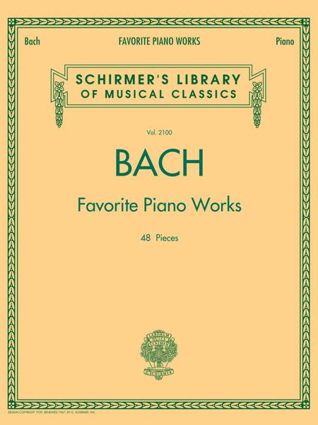 Bach Favorite Piano Works