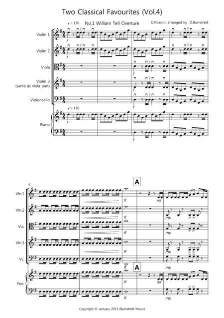 2 Classical Favourites for String Quartet (volume four)