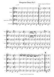 Hungarian Dance No.5 for String Quartet