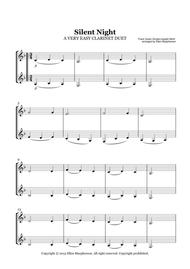 Download A VERY EASY CHRISTMAS CAROL FOR CLARINET DUET - SILENT ...