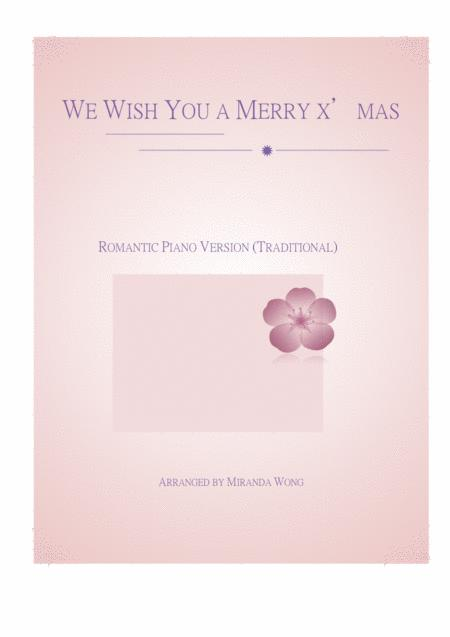 We Wish You a Merry Christmas - Romantic Christmas Piano Solo (With Chords)