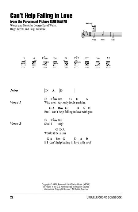 Download Can\'t Help Falling In Love Sheet Music By UB40 - Sheet ...