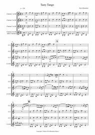 Tasty Tango for Clarinet Quartet