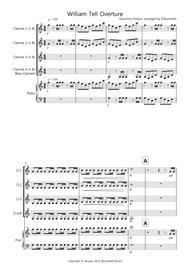 William Tell Overture for Clarinet Quartet