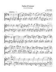 Salut d'Amour for violin & cello duet