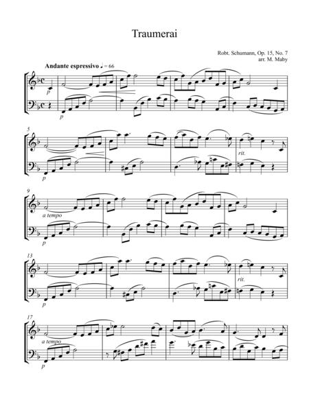 Traumerai for violin & cello duet