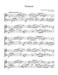 Traumerai for violin & cello duet