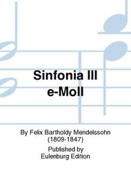 Sinfonia No. 3 in E minor MWV N 3