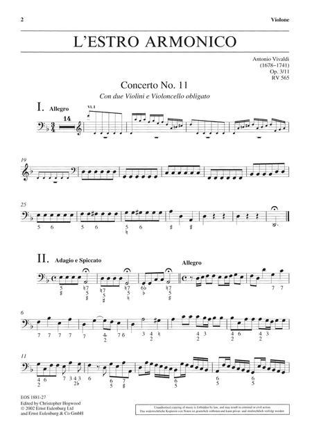 L'Estro Armonico Op. 3/11 RV 565