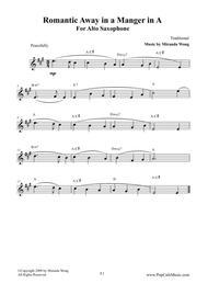 Romantic Away in a Manger - Alto Saxophone Solo