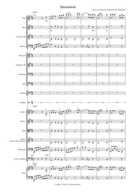 Shenandoah for School Orchestra