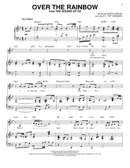 Download Over The Rainbow Sheet Music By Judy Garland - Sheet Music Plus