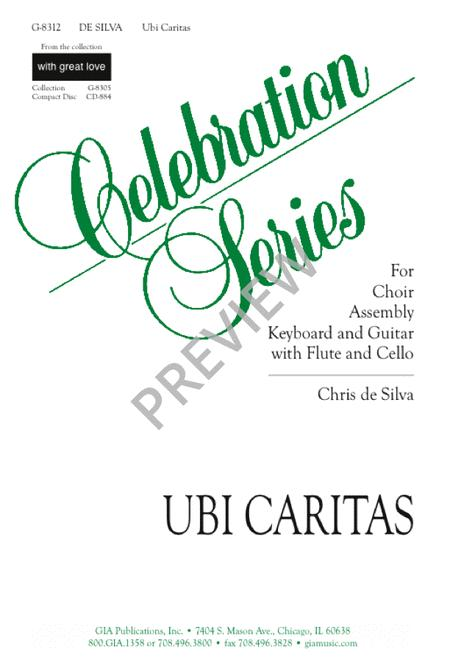 Preview Ubi Caritas By Chris De Silva Gig 8312 Sheet Music Plus