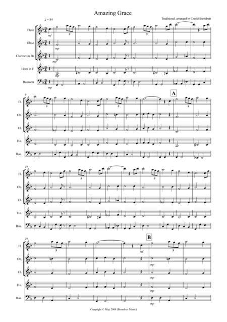 Amazing Grace for Wind Quintet