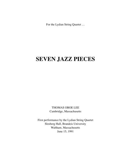 Seven Jazz Pieces (1990-91) for string quartet