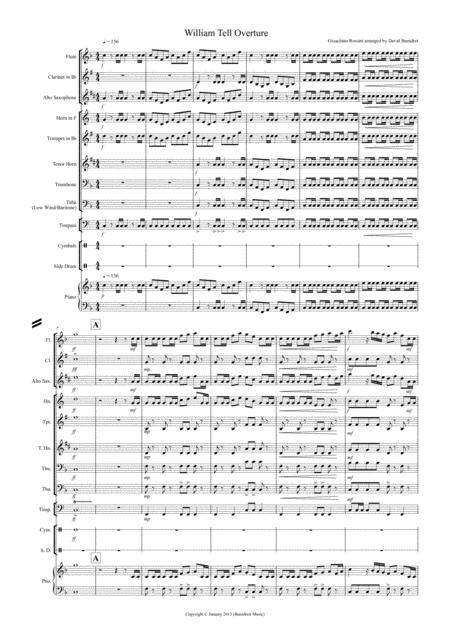 William Tell Overture for School Concert Band