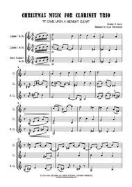 Christmas Music for Clarinet Trio - SCORE