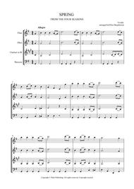SPRING - FROM THE FOUR SEASONS - EASY WIND QUARTET MUSIC - SCORE