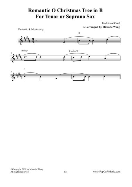 Romantic O Christmas Tree - Tenor or Soprano Saxophone Solo