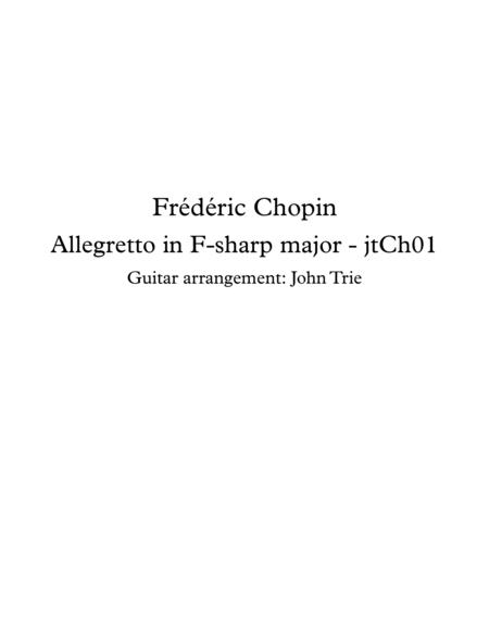 Allegretto in F sharp Major - tab