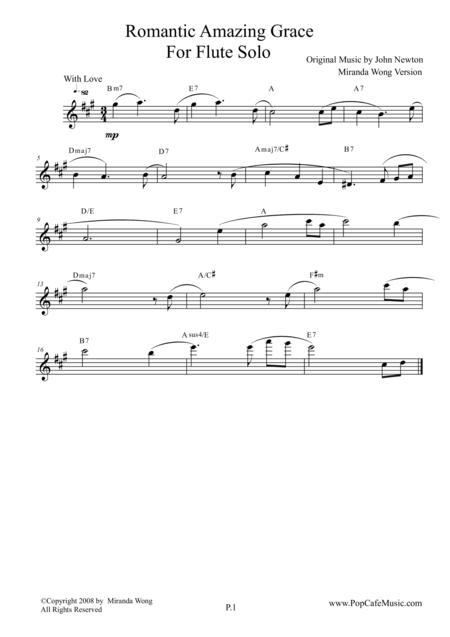 Romantic Amazing Grace - Flute or Piccolo Solo (Love Version)