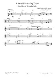Romantic Amazing Grace - Oboe or Recorder Solo (Love Version)