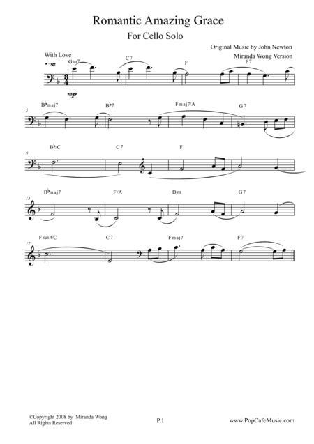 Romantic Amazing Grace - Cello Solo (Love Version)