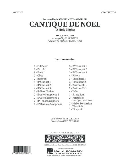 Cantique de Noel (O Holy Night) - Conductor Score (Full Score)