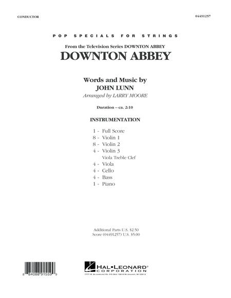 Downton Abbey - Conductor Score (Full Score)