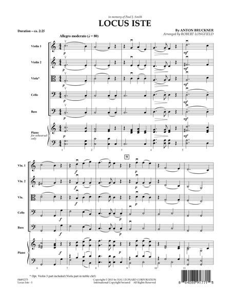Locus Iste - Conductor Score (Full Score)
