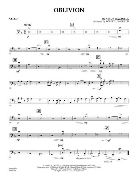 Oblivion - Cello