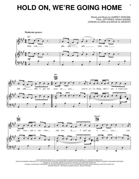 Download Hold On Were Going Home Sheet Music By Drake Sheet
