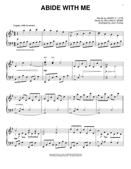 Download Abide With Me Sheet Music By John Purifoy Sheet Music Plus