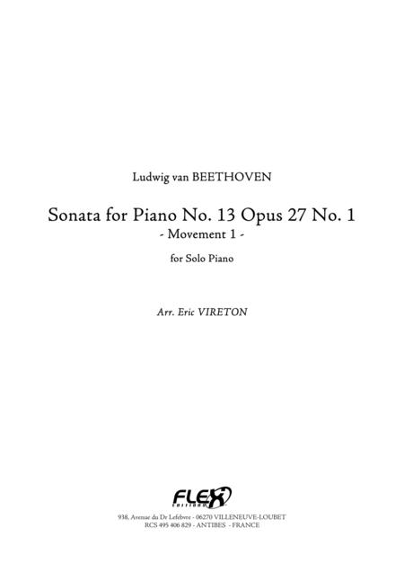 Sonata, No. 13 Op. 27, No. 1 - Movement 1