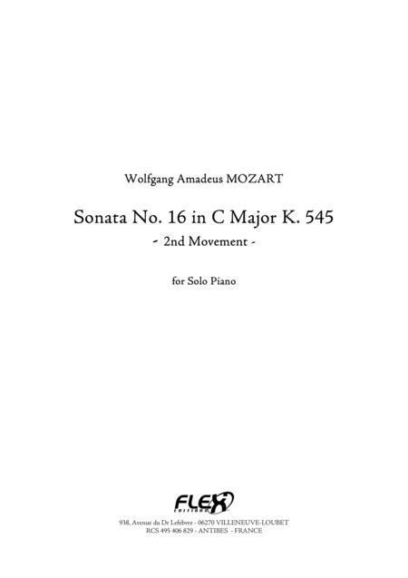 Sonata, No. 16 in C Major K. 545 - Movement 2
