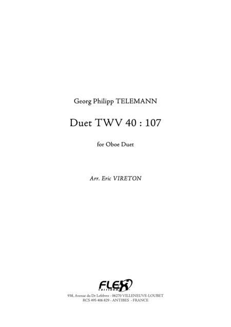 Duet TWV 40 : 107